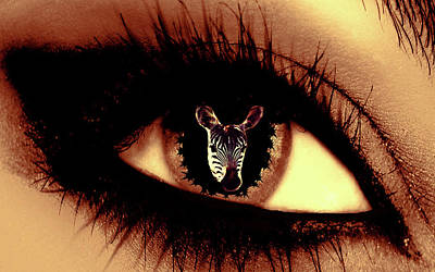 Digital Art - Eye Of The Zebra by Eddie Eastwood