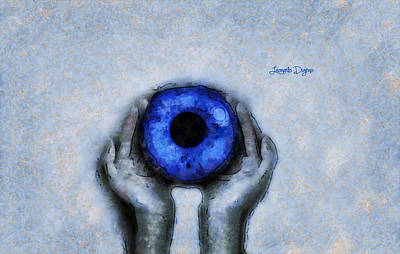 Black Background Painting - Eye Offer by Leonardo Digenio