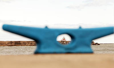 Art Print featuring the photograph Eye On Oswego Lighthouse by Chris Babcock