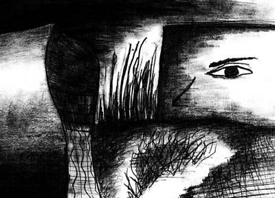 Drawing - Eye On The Wall by Matt Harang
