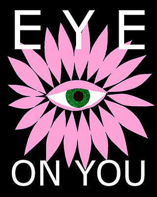 Digital Art - Eye On You - Black by Kristy Hansen