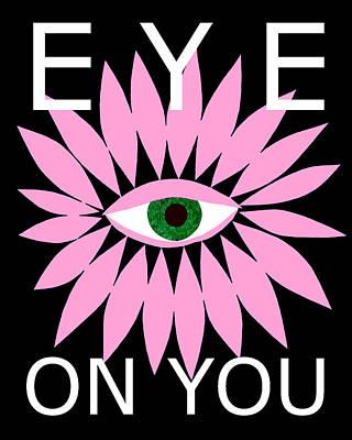 Digital Art - Eye On You - Black by Kristy Hansen