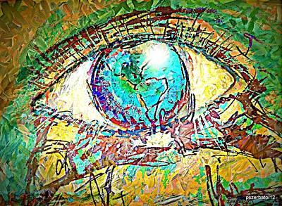 Eye Post-impressionist Art Print by Paulo Zerbato