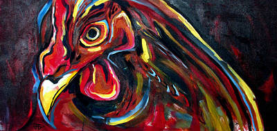 Painting - Eye Rooster by John Jr Gholson