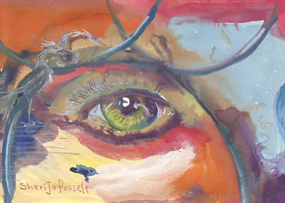 Eye See A Bird Art Print