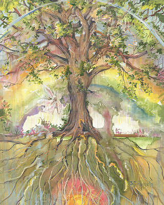 Painting - Eye See My Healing Tree by Sheri Jo Posselt