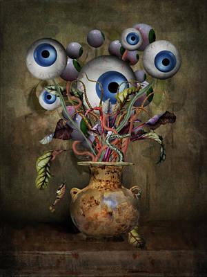 Flower Still Life Mixed Media - Eye See Still Life by Terry Fleckney