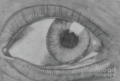 Drawing - Eye See You by Karlie White