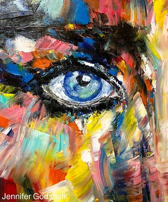 Painting - Eye Study by Jennifer Godshalk