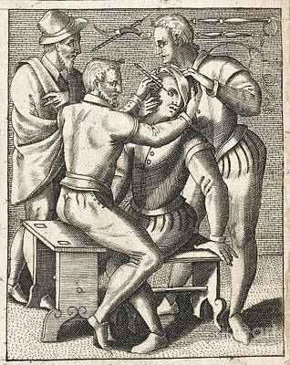 Eye Surgery And Surgical Tools, 1594 Art Print by Wellcome Images