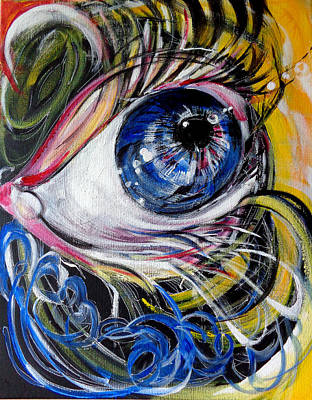 Painting - if Eye could talk by Larissa Pirogovski