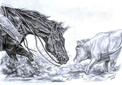 Best Sellers - Animals Drawings - Eye to eye by Jana Goode