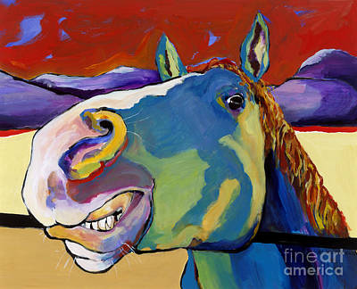 Large Format Painting - Eye To Eye by Pat Saunders-White