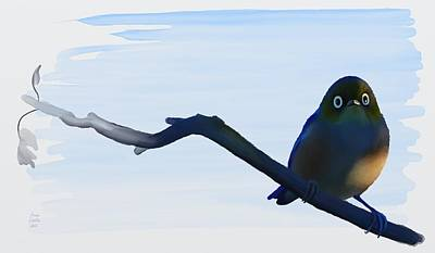 Painting - Eye To Eye With Silvereye by Ivana Westin