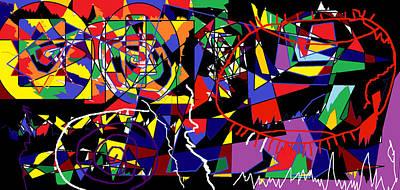 Bipolar Digital Art - Eye Trap by Sam Persons