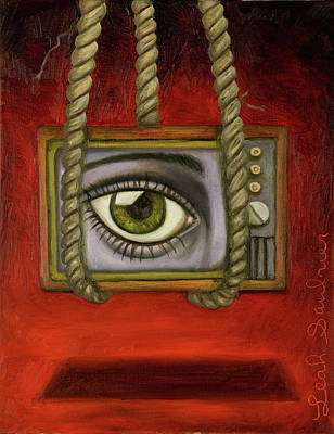 Television Painting - Eye Witness 2  by Leah Saulnier The Painting Maniac