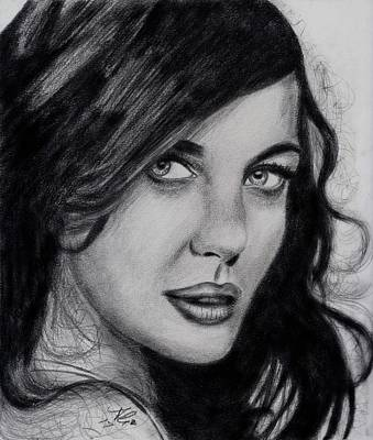 Liv Tyler Drawing - Eyeable by Bobby Dar