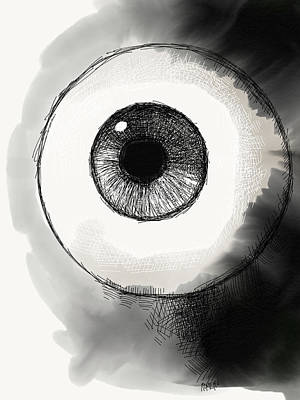 Drawing - Eyeball by Antonio Romero