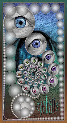 Digital Art - Eyeballs by Becky Titus