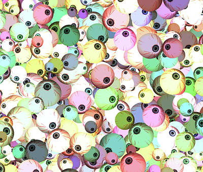 Digital Art - Eyeballs by Methune Hively