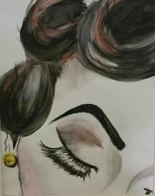 Retro Look Painting - Eyebrow by Cynthia  Carpenter