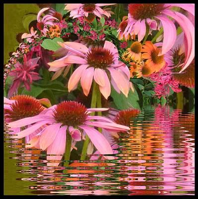 Eyecatching Cone Flowers Art Print by Nancy Pauling