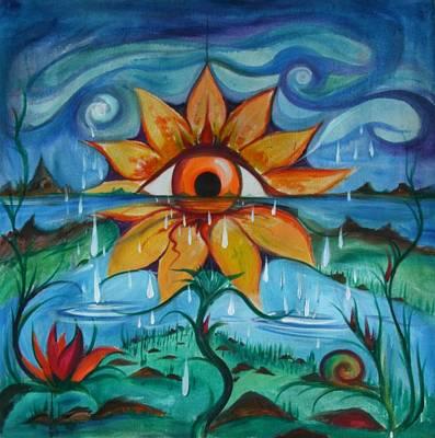 Painting - Eyeflower by Elizabeth Zaikowski