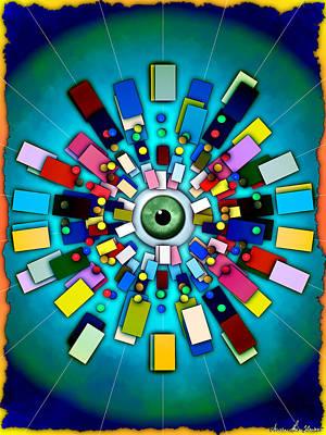 Digital Art - Eyehole by Iowan Stone-Flowers