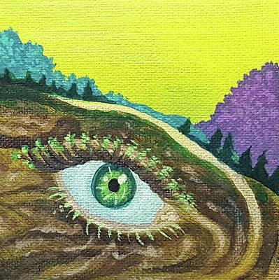 Painting - Eyeland 1 by JJ Long