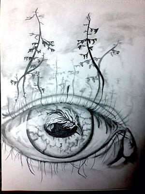 Crying Drawing - Eyeland by Joe Butler jr