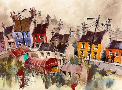 Painting - Eyeries Birdseye by Val Byrne