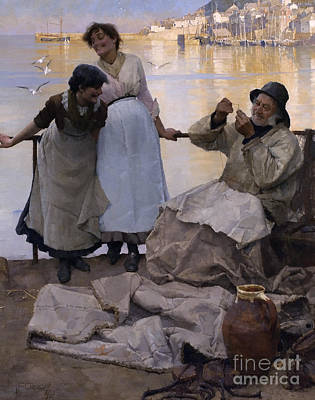 Thread Painting - Eyes And No Eyes by Frank Bramley