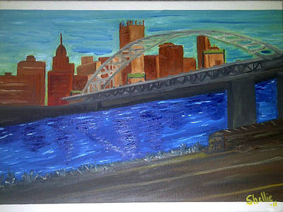 Pittsburgh Painting - Eyes Closed View by Michele Moore