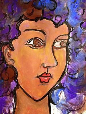 Portrait Painting - Eyes  by Deedee Williams