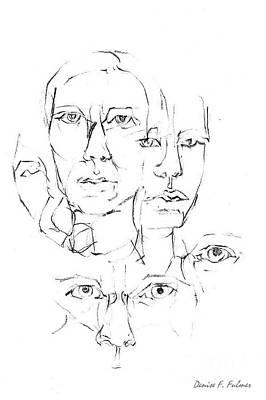 Drawing - Eyes by Denise Fulmer