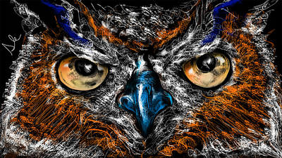 Eyes In The Night... Art Print by Alessandro Della Pietra