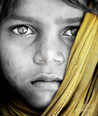 Eyes Of A Child Art Print by Tim Gainey