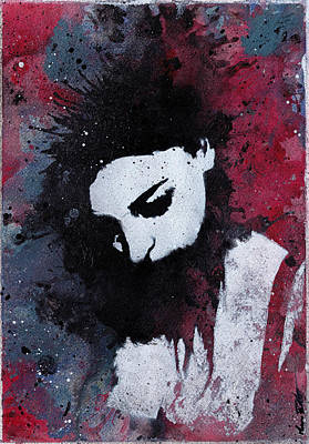 Stencil Art Painting - Eyes Of A Failure by Marco Paludet