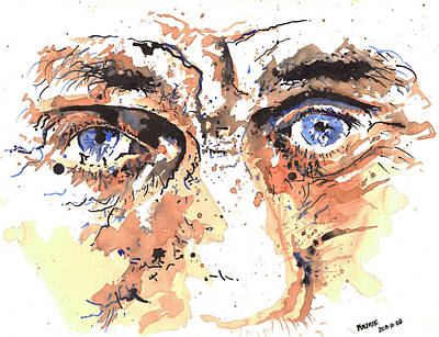 Eyes Of An Old Man Art Print by Morne Fourie