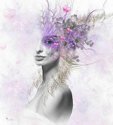 Digital Art - Valentine Eyes by Ali Oppy