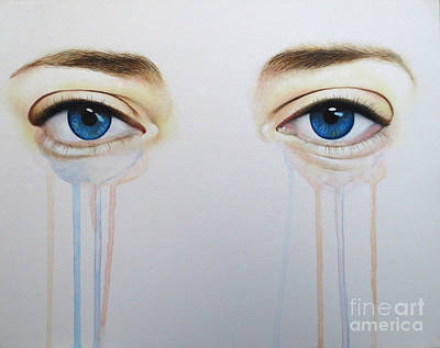 Painting - Eyes Of Crystal  by Malinda Prudhomme
