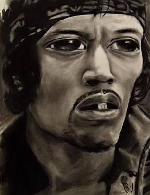 Eyez Of Hendrix Art Print