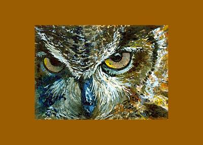 Painting - Eyes Of Owls 16 Shirt by John D Benson