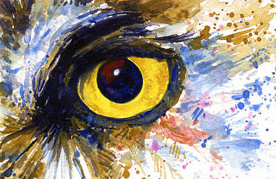 Painting - Eyes Of Owl's No.6 by John D Benson