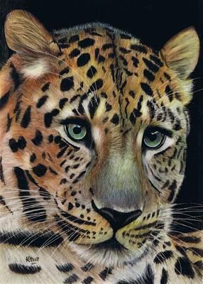 Eyes Of Steel Art Print by Karen Hull