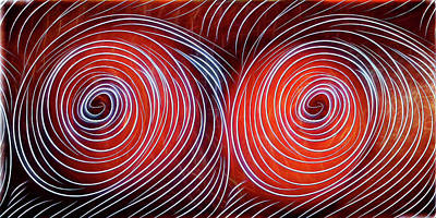 Digital Art - Eyes Of The Hurricanes by John Haldane