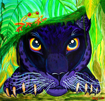 Eyes Of The Rainforest Art Print by Nick Gustafson