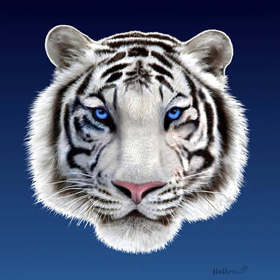 Digital Art - Eyes Of The Tiger by Glenn Holbrook