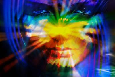 Print featuring the digital art Eyes Of Truth by Shadowlea Is