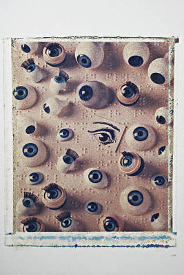 Eyes On Braille Page Art Print by Garry Gay